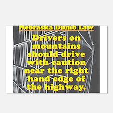 Nebraska Dumb Law 001 Postcards (Package of 8)
