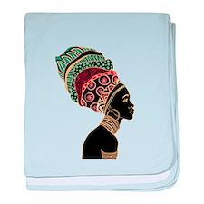 African Woman baby blanket