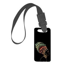 African Woman Luggage Tag