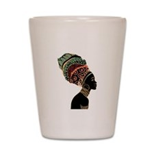 African Woman Shot Glass