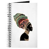 African woman Journals & Spiral Notebooks