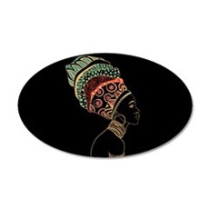 African Woman Wall Decal Sticker