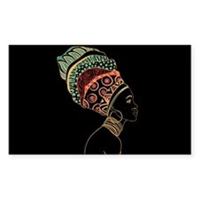 African Woman Decal