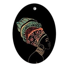 African Woman Ornament (Oval)