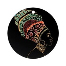 African Woman Ornament (Round)