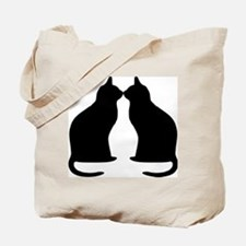 Black cats silhouette Tote Bag