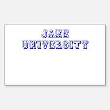 Jake University Rectangle Decal