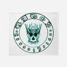 kings cross and bones whiskey Throw Blanket