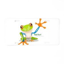 Freddie Frog Aluminum License Plate