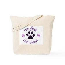 Run Fast • Run Clean Tote Bag