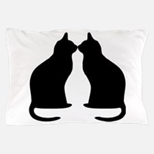 Black Cats Silhouette Pillow Case