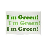 I'm Green! Rectangle Magnet