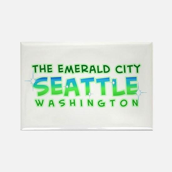 Emerald City Rectangle Magnet