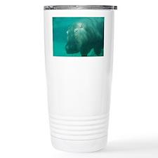 Hippo Under the Water Travel Mug