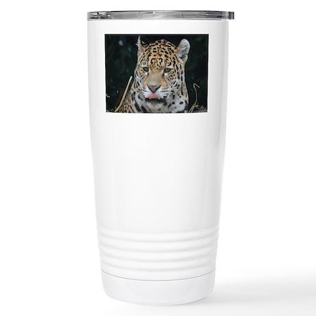 Jaguar Licking His Nose Stainless Steel Travel Mug
