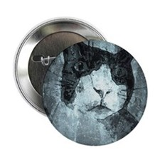 "Black and White Cat. 2.25"" Button"