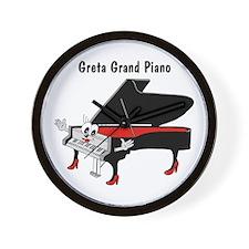 Greta Grand Piano Wall Clock