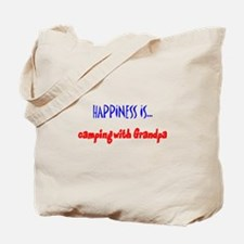 Happiness is Camping with Gra Tote Bag