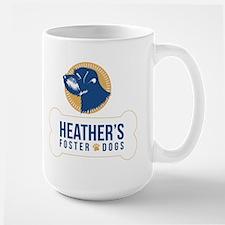Heathers Foster Dogs Blue/Gold Logo Mugs