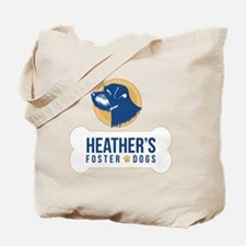 Heathers Foster Dogs Blue/Gold Logo Tote Bag