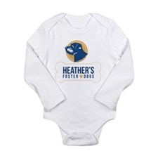 Heathers Foster Dogs Blue/gold Logo Body Suit