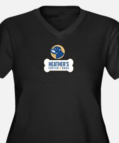 Heathers Foster Dogs Blue/Gold Logo Plus Size T-Sh