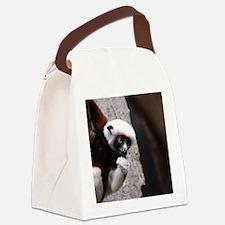 Adorable Safika Lemur Canvas Lunch Bag