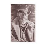 Cowboy Sketch Mini Poster Print