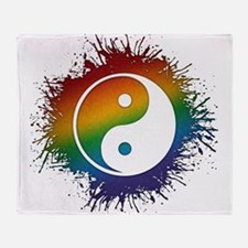 LGBT Taoism's Yin and Yang Throw Blanket
