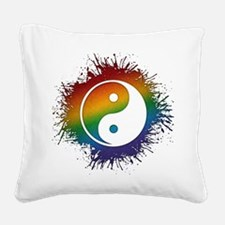 LGBT Taoism's Yin and Yang Square Canvas Pillow