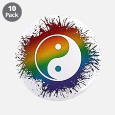 """LGBT Taoism's Yin and Yang 3.5"""" Button (10 pack)"""