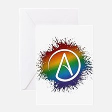 LGBT Atheist Symbol Greeting Card