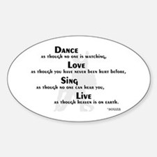 Dance as if... Oval Decal