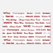 WINE WORDS Postcards (Package of 8)