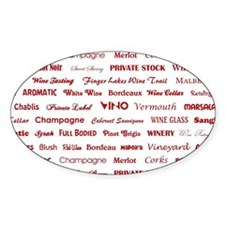 WINE WORDS Decal