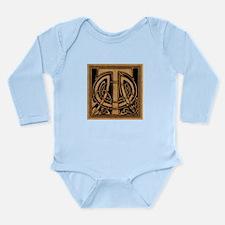 Celtic Monogram T Long Sleeve Infant Bodysuit