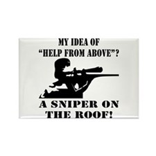 A Sniper On The Roof Rectangle Magnet