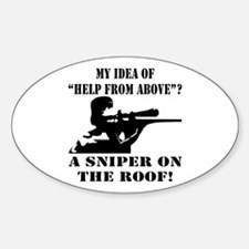 A Sniper On The Roof Sticker (Oval)