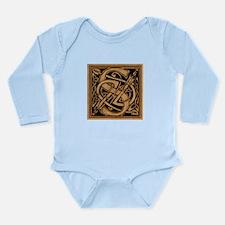 Celtic Monogram S Long Sleeve Infant Bodysuit