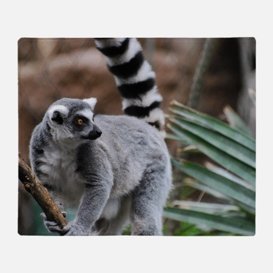 Madagascar Lemur Throw Blanket
