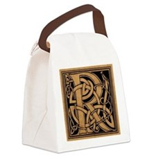 Celtic Monogram R Canvas Lunch Bag