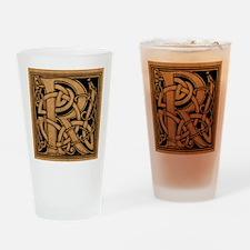 Celtic Monogram R Drinking Glass