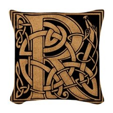 Celtic Monogram R Woven Throw Pillow