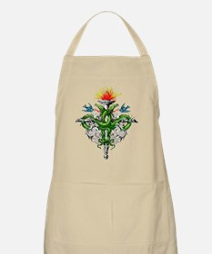 Serpent Cross Tattoo BBQ Apron