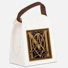 Celtic Monogram M Canvas Lunch Bag