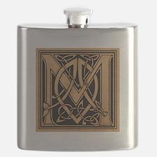 Celtic Monogram M Flask