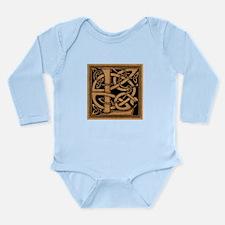 Celtic Monogram L Long Sleeve Infant Bodysuit