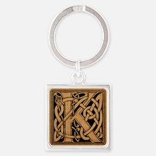 Celtic Monogram K Square Keychain