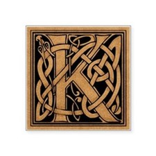 "Celtic Monogram K Square Sticker 3"" x 3"""