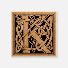 "Celtic Monogram K Square Sticker 3"" x 3"""